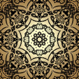Vintage seamless background with lacy ornament. Golden pattern, Stock Image