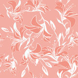 Vintage seamless background of lily flowers Royalty Free Stock Photography