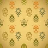 Vintage seamless background pattern with flowers Stock Images