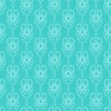 Turquoise lace pattern Stock Image