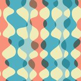 Vintage seamless background, retro pattern. Chaotic multicolored waves, garlands. 1950s modern style. Vintage seamless background, retro pattern. Chaotic Stock Photo