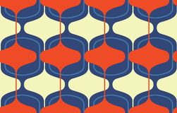 Vintage seamless background, retro pattern. Multicolored garlands. 1950s modern style. Vintage seamless background, retro pattern. Multicolored garlands. 1950s Royalty Free Stock Photos