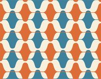 Vintage seamless background, retro pattern. Multicolored garlands. 1950s modern style. Vintage seamless background, retro pattern. Multicolored garlands. 1950s Stock Image