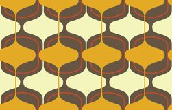 Vintage seamless background, retro pattern. Multicolored garlands. 1950s modern style. Vintage seamless background, retro pattern. Multicolored garlands. 1950s Stock Photo