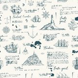 Vintage seamless background on the theme of travel vector illustration