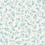 Vintage seamless blue floral pattern. Vector illustration. Royalty Free Stock Image