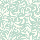 Vintage seamless blue and white floral pattern. Vector illustration. Stock Image