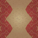 Vintage seamless border in Eastern style. Stock Images