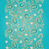 Vintage seamless border in Eastern style. Ornate vintage seamless border with lacy ornament. Persian style background. Place for your text. It can be used for Royalty Free Stock Images