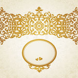 Vintage seamless border in Eastern style. Stock Photos