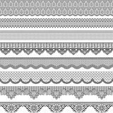 Vintage seamless border with lace texture Royalty Free Stock Photo