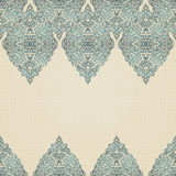 Vintage seamless border with lacy ornament. Brocade background. You can place your text in the empty place. It can be used for decorating of invitations Royalty Free Stock Photography