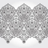 Vintage seamless border with lacy ornament. Floral frieze in east style. It can be used for decorating of wedding invitations, greeting cards, decoration for Stock Photos