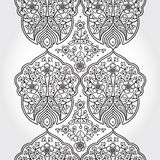 Vintage seamless border with lacy ornament Royalty Free Stock Image