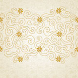 Vintage seamless border with lacy ornament. You can place your text in the empty place.  It can be used for decorating of wedding invitations, cards Stock Photography