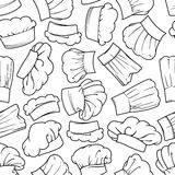 Vintage seamless chef hats pattern Stock Photos
