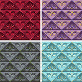 Vintage seamless colorful pattern vector backgrounds Stock Images