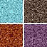 Vintage seamless colorful pattern vector backgrounds Royalty Free Stock Image