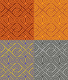 Vintage seamless colorful pattern vector backgrounds Stock Photo