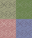 Vintage seamless colorful pattern vector backgrounds Royalty Free Stock Photos