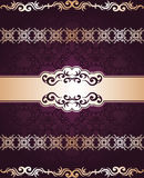 Vintage seamless damask background Stock Photo