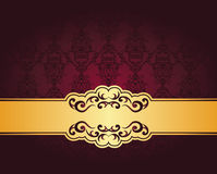 Vintage seamless damask wallpaper Royalty Free Stock Image