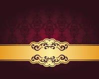 Vintage seamless damask wallpaper Royalty Free Stock Image