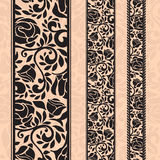 Vintage seamless decorative patterns in the form of strips. Royalty Free Stock Photography