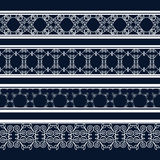 Vintage seamless decorative patterns in the form of strips. Lace strips for decoration and design.Template frame design for card. Lace Doily. Can be used for Stock Photo