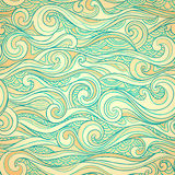 Vintage seamless with ethnic waves Royalty Free Stock Images
