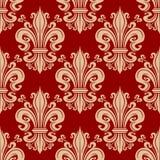 Vintage seamless fleur-de-lis floral pattern Stock Images