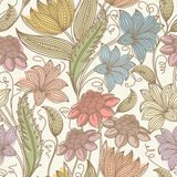 Vintage seamless floral background Royalty Free Stock Photography