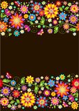 Vintage seamless floral colorful border Royalty Free Stock Photo