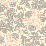 Vintage Seamless floral linen pattern Royalty Free Stock Images