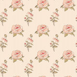 Vintage Seamless Floral Pattern – Illustration Stock Photo