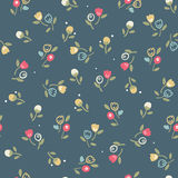 Vintage seamless floral pattern. Vector illustration Royalty Free Stock Photos