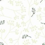 Vintage seamless floral pattern. Vintage seamless dandelion pattern, vector illustration Stock Images