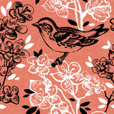 Vintage seamless floral pattern. Hand drawn Stock Photography