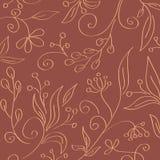 Vintage seamless floral wallpaper Royalty Free Stock Photo
