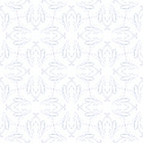 Vintage seamless flourish vector pattern design. Vintage vector pattern design with delicate flourish lines and restrained colors, ideal packaging paper, or card Royalty Free Stock Photos