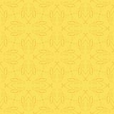 Vintage seamless flourish vector pattern design. Vintage vector pattern design with delicate flourish lines and mustard colors, ideal packaging paper, or card Stock Photography