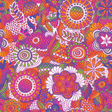 Vintage seamless flower pattern. Vintage seamless flower doodle pattern Royalty Free Stock Photo