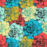 Vintage seamless flower pattern Royalty Free Stock Images
