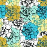 Vintage seamless flower pattern Stock Photography