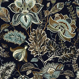 Vintage seamless flowers pattern in provence style Stock Image