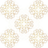 Vintage Seamless Gold Pattern Victoian Royalty Free Stock Image