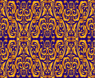 Vintage_Seamless_Golden_Pattern Zdjęcia Stock