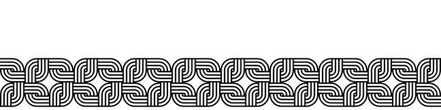 Vintage seamless horizontal border for your design. Royalty Free Stock Photo