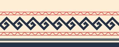 Vintage seamless horizontal colorful border Royalty Free Stock Image