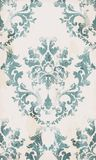 Vintage seamless ornament pattern Vector. Baroque classic background. Royal victorian texture. Old painted style decor. Design royalty free illustration